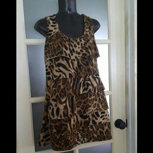 Gina F/S Dresses - Gina F/S Animal Print Dress